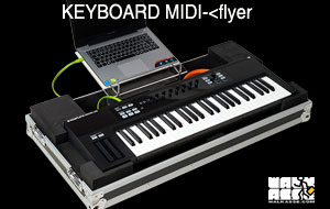 flyer keyboard Midi