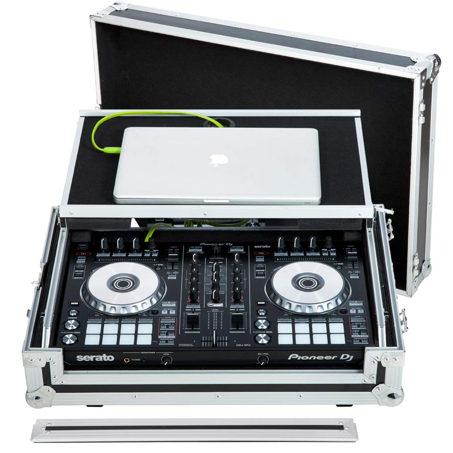 Flight Case Midi Controller Pioneer® DDJ-SR2/DDJ-RR Silver (Laptop Stand,  Trolley & Wheels)