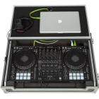 Flight Case Midi Controller Pioneer® DDJ-1000/ Denon DJ® MCX8000 Silver (Laptop Std., Trolley & Wheels).