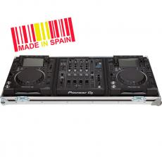 Flight Case Pioneer® CDJ-2000NXS2/ DJM-900NXS2 Silver (Wheels).