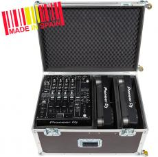 Professional Flight Case  Pioneer® CDJ-3000/ 2000NXS2 + DJM-900NXS2, Wheels