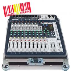 Professional Flight Case Mixer Soundcraft® SIGNATURE12, Silver