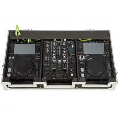 Flight case para reproductor CD 10'' y mezcladora dj 10''