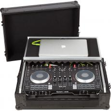 Flight Case Midi Controller Numark NS6II Black (Laptop Stand, Trolley & Wheels).