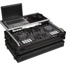 Flight case for midi controller. Trolley handle and wheels.
