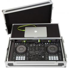 Flight Case Midi Controller Pioneer® DDJ-800 Silver (Laptop Stand, Trolley & Wheels).