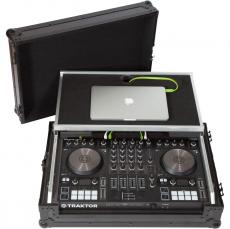 Flight Case Midi Controller  Native Instruments® KONTROL S4MK3 Black (Laptop Stand, Trolley & Wheels).