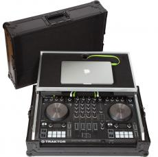 Flight Case Midi Controller Native Instruments® KONTROL S4MK3 Black (Laptop Stand).