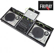Flight Case Turntable (Normal)/ Pioneer® DJM-900NXS2 Silver (Laptop Stand + Wheels).