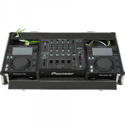 Flight Case Pioneer® XDJ-700 or CDJ-350/DJM-750MK2 Silver (Wheels).