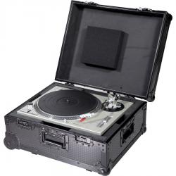 Flight Case Multi Fromat Turntable (Trolley + Wheels) Black