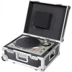 Flight Case Multi Fromat Turntable (Trolley + Wheels) Silver