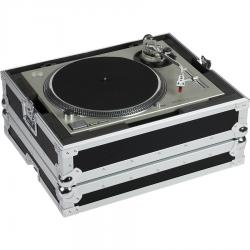 Flight Case Multi Format Turntable Silver.