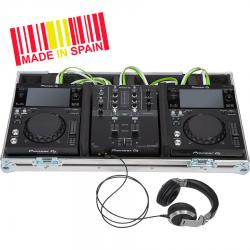 Flight Case Pioneer® XDJ-700/ DJM-450MK2 Silver.