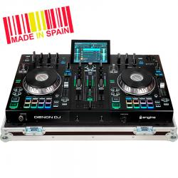 Professional Flight Case controller Denondj® PRIME4 Silver (Wheels).