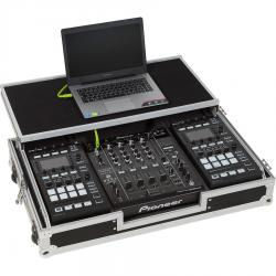 Flight Case Pioneer® DJM-900NXS2/ NI® KONTROL D2 Silver (Laptop Stand, Trolley & Wheels).