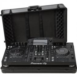 Flight Case Multi Format XL 730mm Pioneer® XDJ-RX2 Black (Trolley & Wheels).