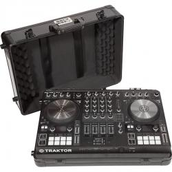Flight Case Multi Format NI® S4MK3/S3 & Pioneer® DDJ-400 Black (Trolley & Wheels).