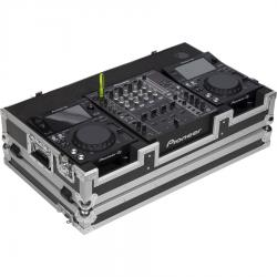 Flight Case Pioneer® XDJ-700 or CDJ-350/ DJM-750MK2 Silver (Wheels).