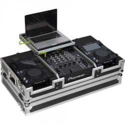 Flight Case Pioneer® XDJ-700 or CDJ-350/ DJM-750MK2 Silver (Laptop Stand & Wheels).