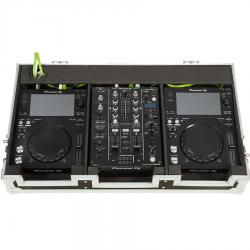 Flight Case Pioneer® XDJ-700 or CDJ-350/ DJM-450 Silver.