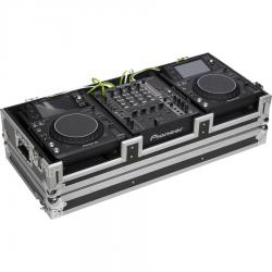 Flight case para reproductor CD 12'' y mezcladora dj 12''