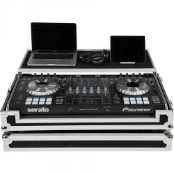 Flight Case Midi controller Pioneer® DDJ-SZ2/RZ Silver (Laptop Stand, Treolley & Wheels).