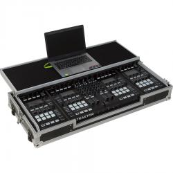 Flight Case Midi Controller Silver (Laptop Stand, Trolley & Wheels).