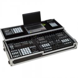 Flight Case Dj Midi Controller & Live Controller Silver (Laptop Stand & Wheels).