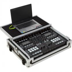 Flight Case NI® TRAKTOR KONTROL S8 Silver (Laptop Stand, Trolley & Wheels).