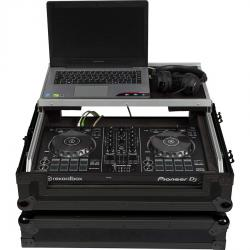 Flight Case Midi Controller Pioneer DDJ-400/DDJ-SB3 Black (Laptop Stand, Trolley & Wheels)