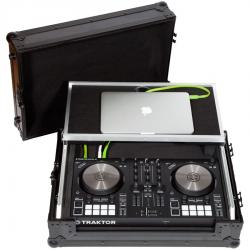 Flight Case Midi Controller Native Instruments® KONTROL S2MK3 Black (Laptop Stand, Trolley & Wheels)
