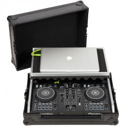 Flight Case Midi Controller Pioneer DDJ-400/DDJ-SB3 Black (Laptop Stand).