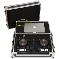 Flight Case Midi Controller Native Instruments® KONTROL S2MK3  Silver (Laptop Stand, Trolley & Wheels)