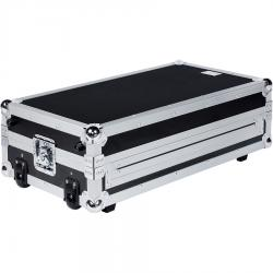 Flight Case Midi Controller Roland® DJ-808 Plata (Laptop Stand, Trolley & Wheels).