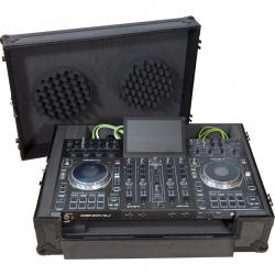Flight case Midi controller Denondj® PRIME4  Black (Trolley + Wheels).