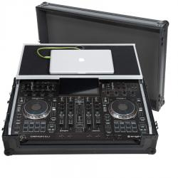 Flight case Midi controller Denondj® PRIME4  Black (Laptop Stand, Trolley & Wheels).