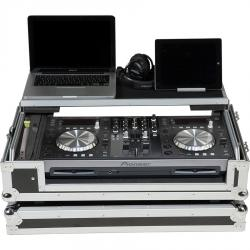 Flight Case All in one Pioneer® XDJ-R1 Silver (Laptop Stand, Trolley & Wheels).