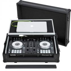 Flight Case Midi Controller  Pioneer® DDJ-SR2 Black (Laptop Stand, Trolley & Wheels).