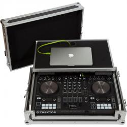 Flight Case Midi Controller Native Instruments® KONTROL S4MK3 Silver (Laptop Stand, Trolley & Wheels).