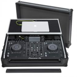 Flight Case All-in-one DJ System Pioneer® XDJ-RX2 Black (Laptop Stand, Trolley & Wheels).