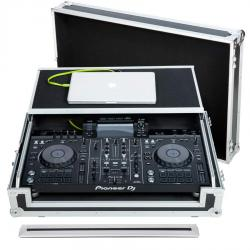 Flight Case Midi controller Pioneer® XDJ-RX2 Silver (Laptop Stand, Trolley & Wheels).