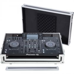 Flight case Midi controller Pioneer® XDJ-RX2 Silver (Trolley & Wheels).