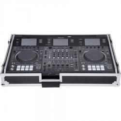 Flight case Midi Controller Pioneer® DDJ-RZX Silver (Laptop Stand & Wheels).