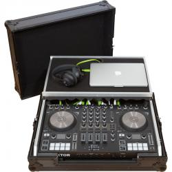 Flight Case Midi Controller Native Instruments® KONTROL S4/S3 Black (Laptop Stand).