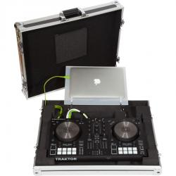 Ultra Slim Flight Case Midi Controller Native Instruments® KONTROL S2MK3 Silver (Acrylic stand).