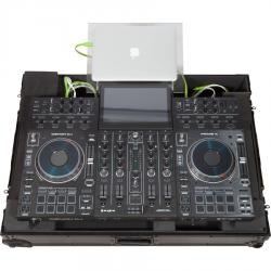 Ultra Slim Flight Case Midi Controller Denondj® PRIME4 Black (Acrylic stand + Wheels).