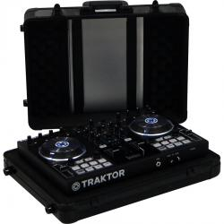 Flight Case Multi Format S 480mm NI® TRAKTOR KONTROL S2MK2 Black (Trolley & Wheels).