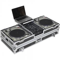 Flight Case Turntable (Battle)/ Pioneer® DJM-S9 or NI® KONTROL Z2 (Laptop Stand & Wheels).