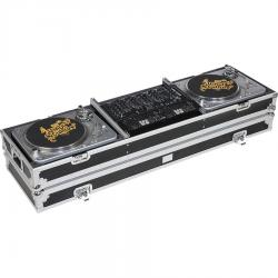 Flight Case Turntable (Normal)/ rackmount 19'' Silver (Wheels).